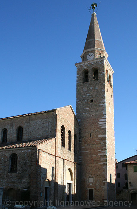 The Bell Tower of Sant'Eufemia Cathedral Grado